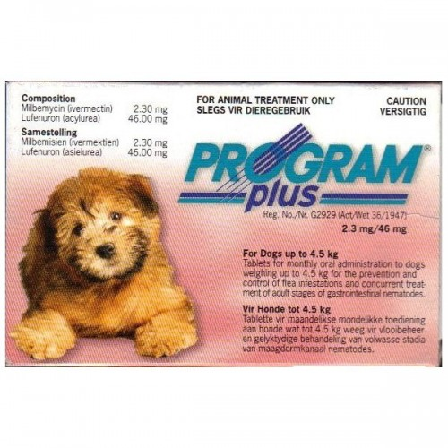 PROGRAM PLUS 2.3 Mg. (hasta 4.5 kg.)