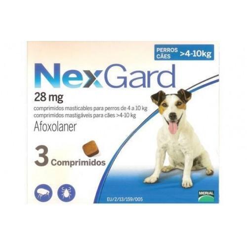 Nexgard S (2-4 kg) 3 tablets.