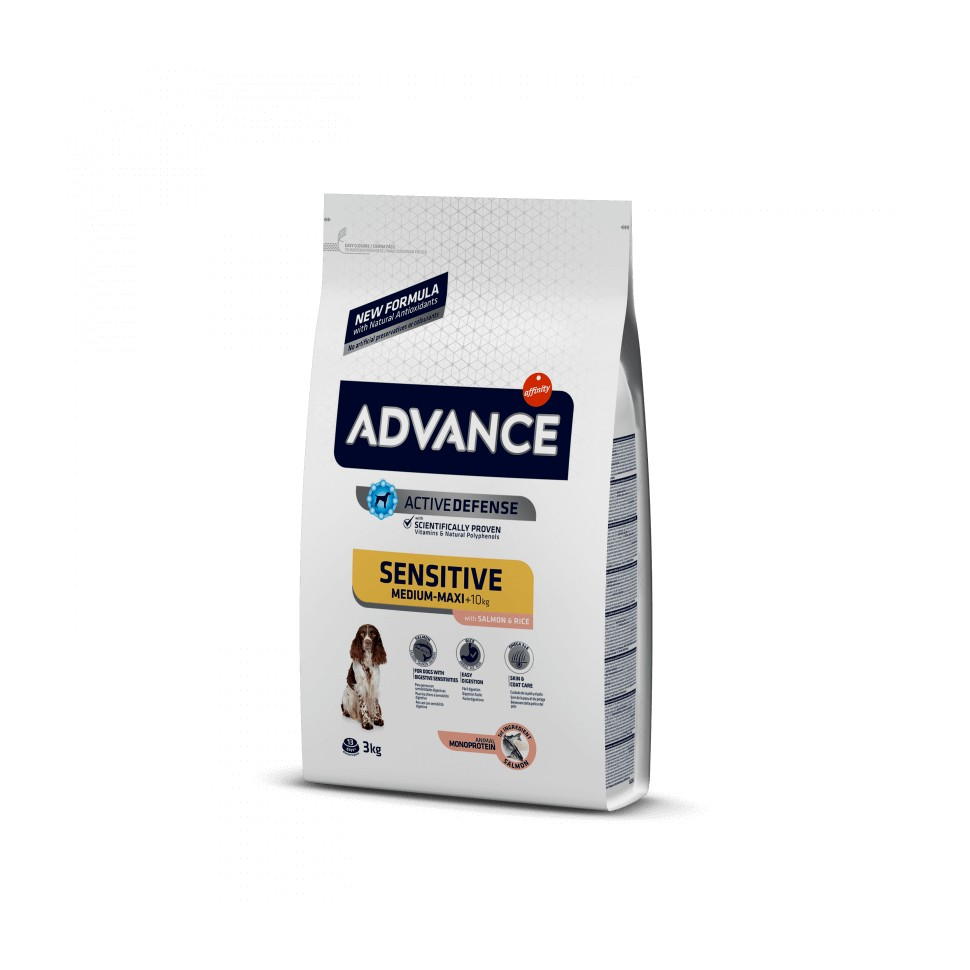 Advance Sensitive Medium-Maxi Salmon & Rice