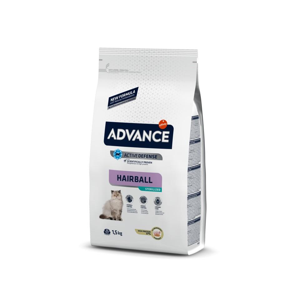 Advance Sterilized HAIRBALL Pavo y Cebada